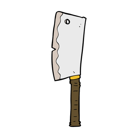 cartoon meat cleaver Vector
