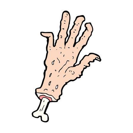 만화 총 절단 된 손