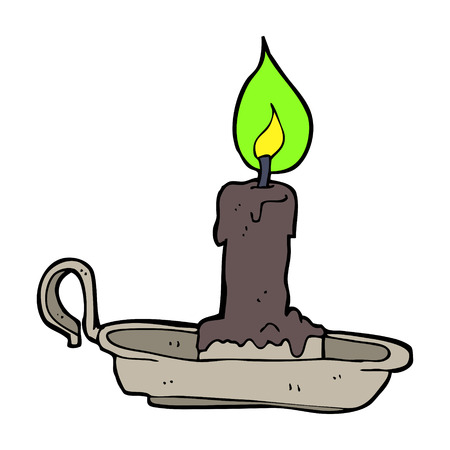 cartoon spooky candlestick Vector