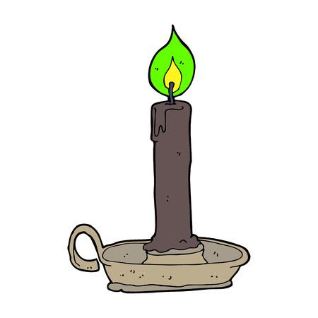 cartoon burning candle Vector