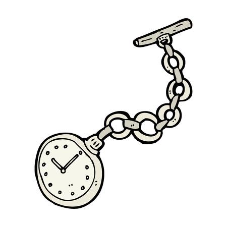 Reloj de bolsillo de dibujos animados de edad Foto de archivo - 27821105