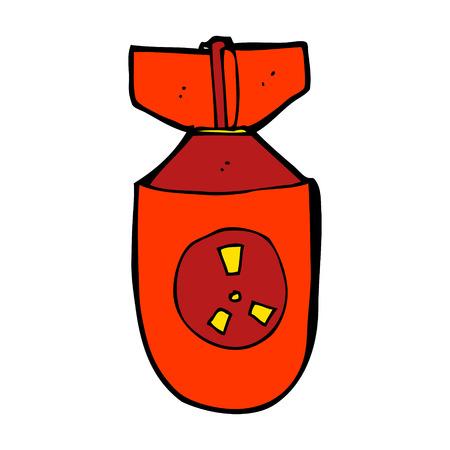cartoon atom bomb Vector