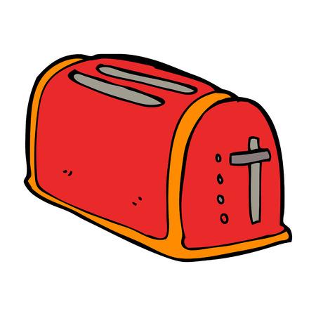 toaster: cartoon toaster