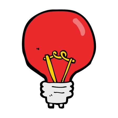 semaforo rosso: cartone animato lampadina rossa