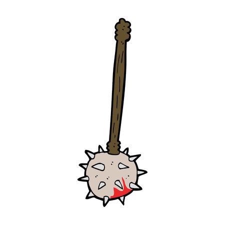cartoon bloody medieval mace Фото со стока - 27827302