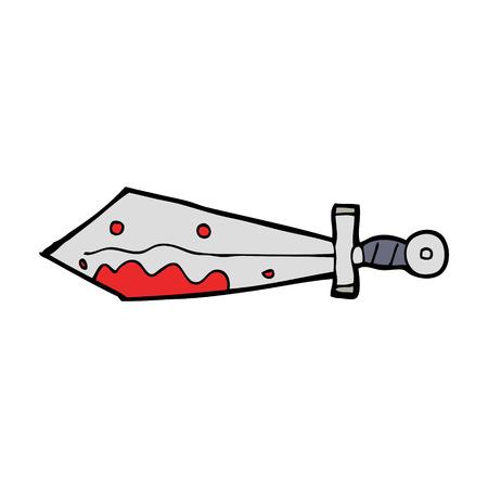 cartoon bloody sword Фото со стока - 27827379