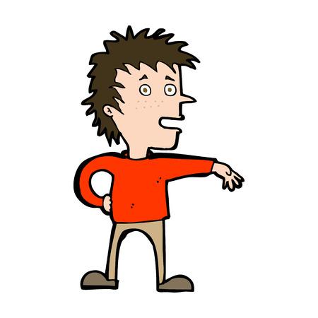 dismissive: cartoon man making dismissive gesture Illustration