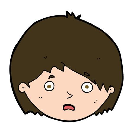 cartoon unhappy boy Illustration