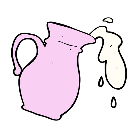 milk jug: latte fumetto brocca