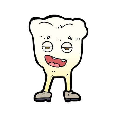 smug: cartoon tooth looking smug