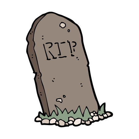 cartoon spooky grave
