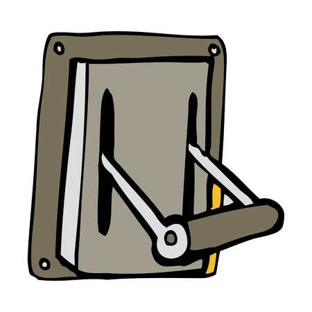 industrial machine: cartoon industrial machine lever