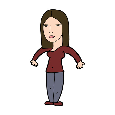 annoyed: cartoon annoyed woman Illustration