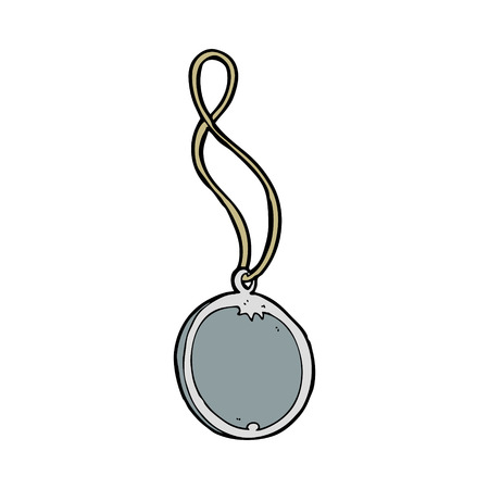 cartoon pendant necklace Illustration