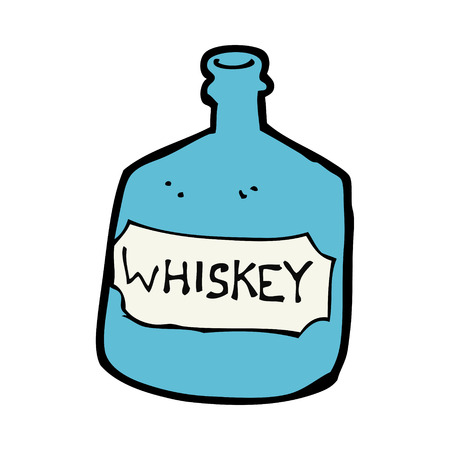 whiskey bottle: de dibujos animados botella de whisky de edad