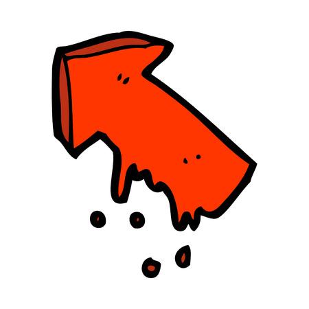 slimy: cartoon slimy pointing arrow symbol Illustration