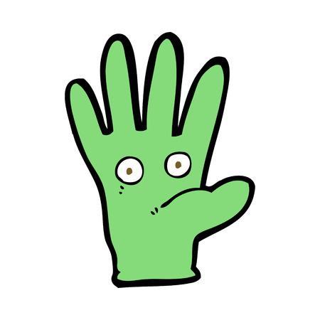 Cartoon hand met ogen