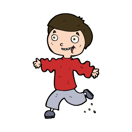 cartoon excited boy Vector