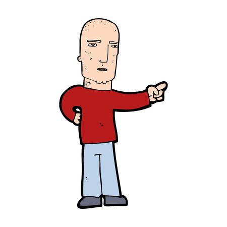 accuser: bande dessin�e tough guy pointant Illustration