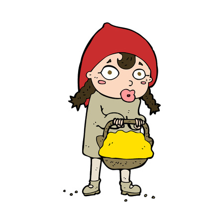 little red riding hood: piccolo cappuccio di guida rosso del fumetto