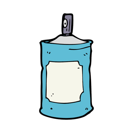 cartoon spray can Vector