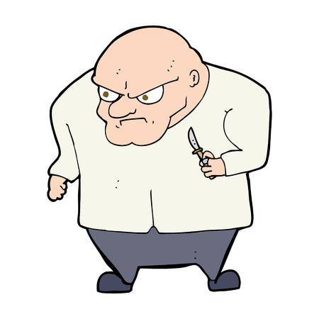 thug: cartoon evil man