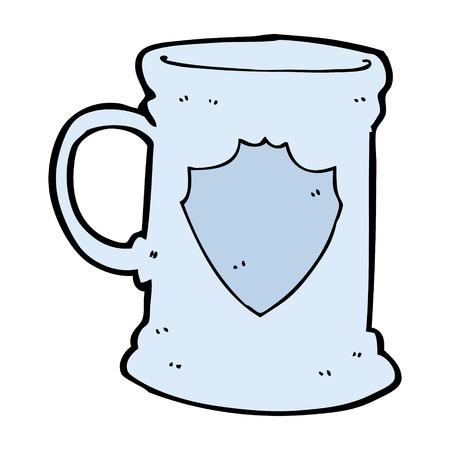 tankard: cartoon old tankard Illustration