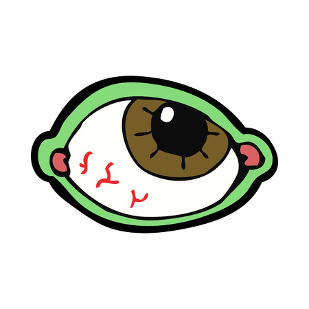 cartoon spooky eye Vector