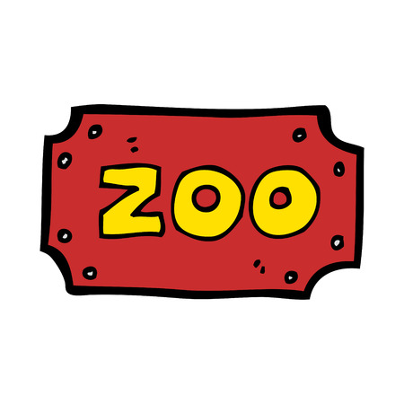 zoologico caricatura: signo zoo de dibujos animados
