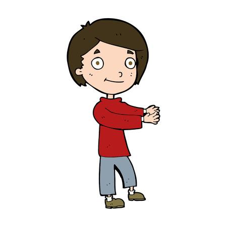 cartoon happy boy Illustration
