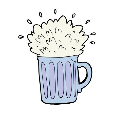 frothy: cartone animato birra schiumosa