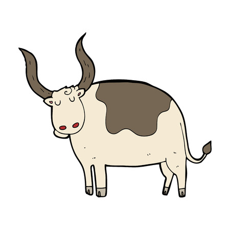 in ox: cartoon ox Illustration