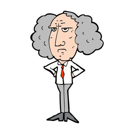 lecturer: cartoon big hair lecturer man