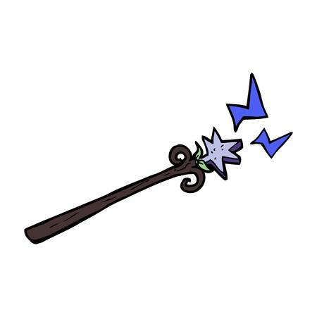 cartoon magic wand Vector