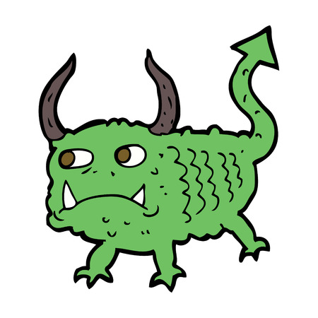 imp: cartoon little demon Illustration