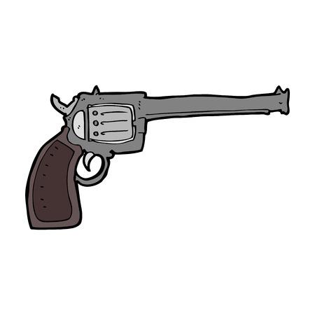 six gun: cartoon gun