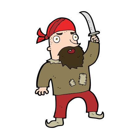 cartoon pirate Illustration