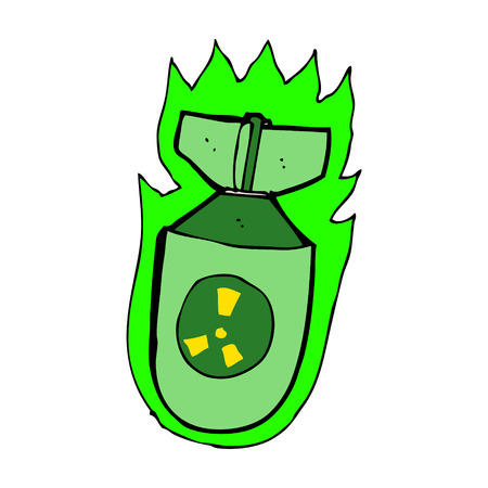 atomic bomb: cartoon atomic bomb