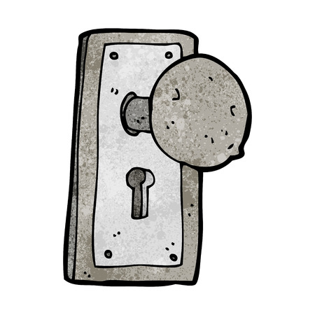 cartoon oude deurknop