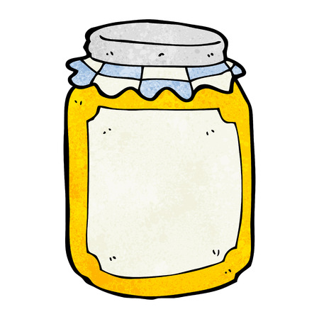cartoon jar of honey Illustration