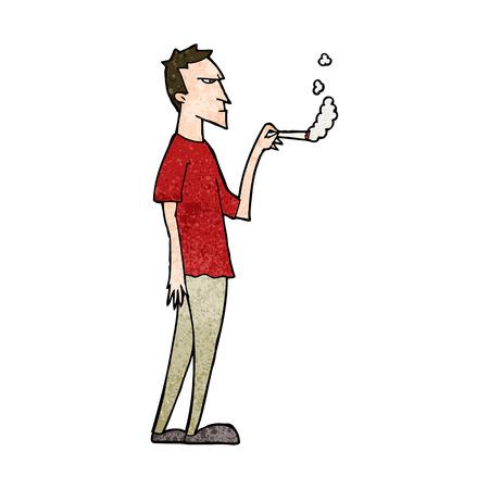 흡연자: cartoon annoyed smoker 일러스트