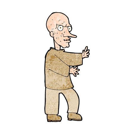 mirando: dibujos animados significa hombre de aspecto