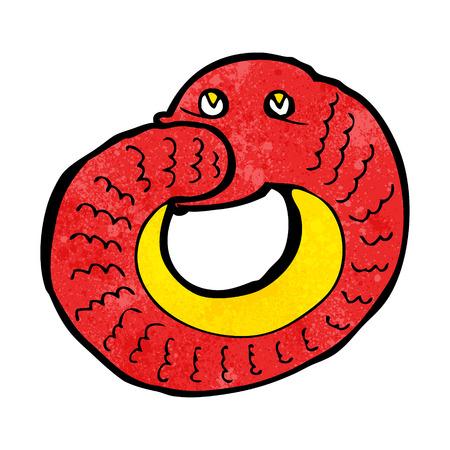 cartoon slang: cartoon slang het eten van eigen staart