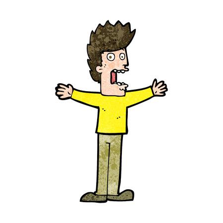 cartoon terrified man Imagens - 27869994