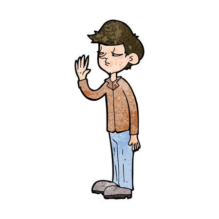 jaded: cartoon arrogant boy
