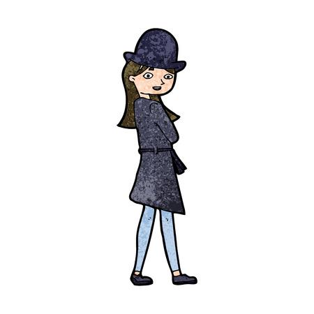 cartoon female spy Vector