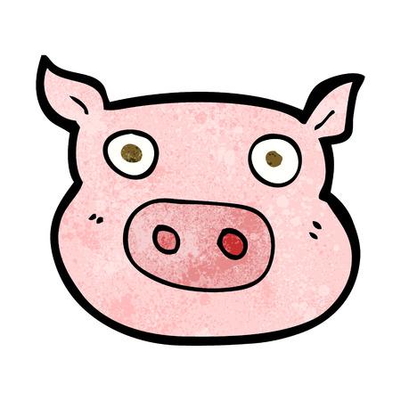 chancho caricatura: cara cerdo de la historieta