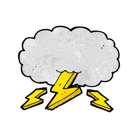 cartoon thundercloud Vector