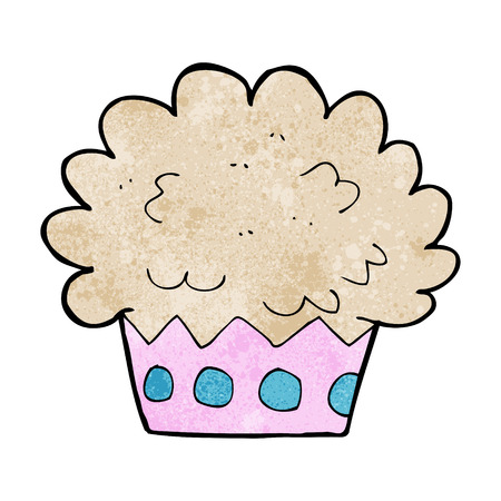 cartoon cup cake Vector