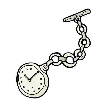 Reloj de bolsillo de dibujos animados de edad Foto de archivo - 27840488